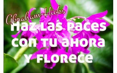 Haz las paces con tu ahora y florece ~ Abraham-Hicks en español