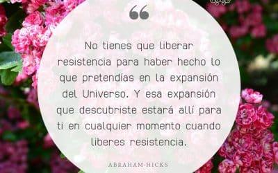 No tienes que liberar resistencia
