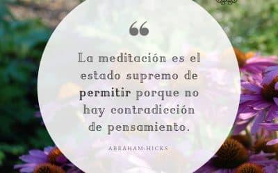 La meditación supremo permitir