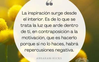 La inspiración surge desde el interior